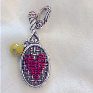 Sterling silver tennis pendant
